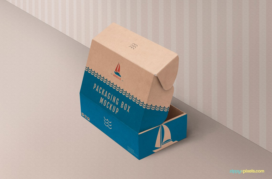 Download Free Product Box Mockup | ZippyPixels