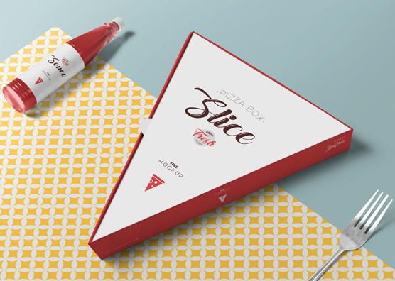 Download Free Pizza Slice Box Mockup | ZippyPixels