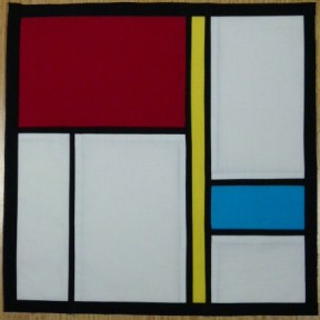 Of course this is based on Piet Mondrian's paintings, and particularly on the Mondrian dresses derived from them