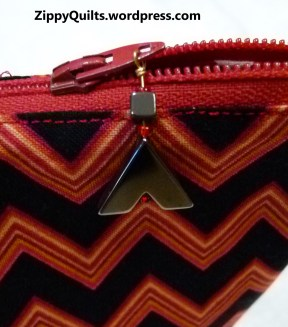 beaded zipper pull