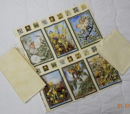 Flower fairies need to be made into a quilt