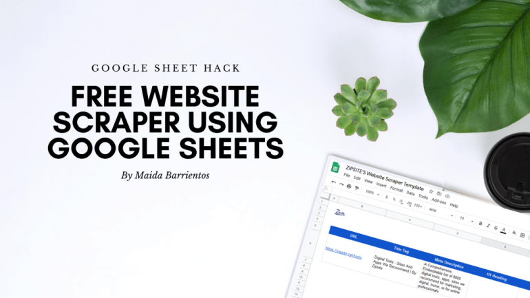 Free website scraper using google sheets 1 large |  Tips and Tricks On Anything But Net | google sheet, website scraper