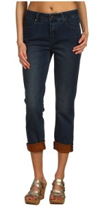 Miraclebody Contrast cuff jeans
