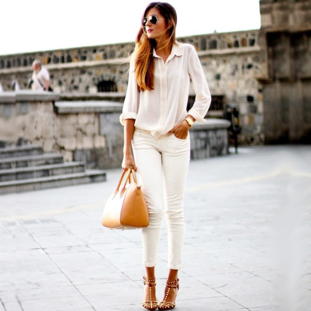 all white white jeans
