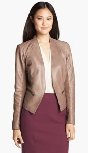 Halogen Cutaway Leather Jacket NAS