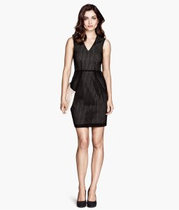 h&m vneck sheath dress