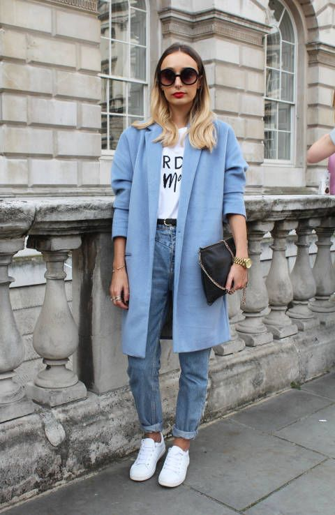 pale blue colorful coat