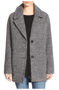 nordstrom grey car coat