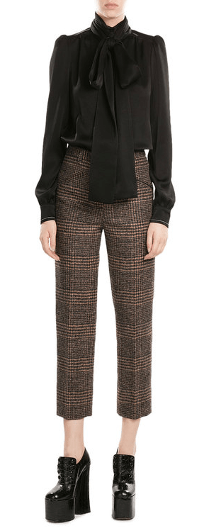 Sonia Rykiel Glen Plaid Pants