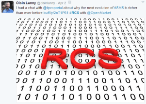 MoNage attendees tweeted about RCS.