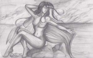 Venus and the Ocean Wave Sketch Version