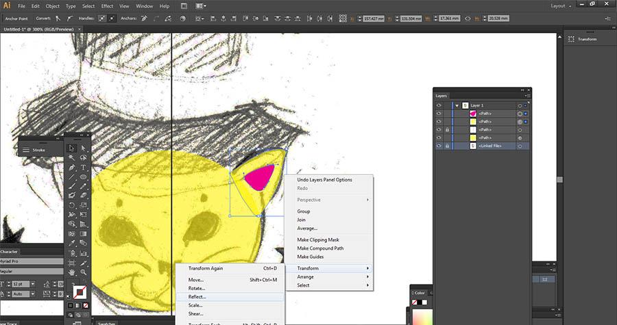 Reflect tool Illustrator