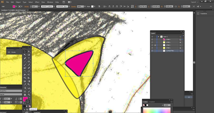 Cat ears in Adobe Illustrator
