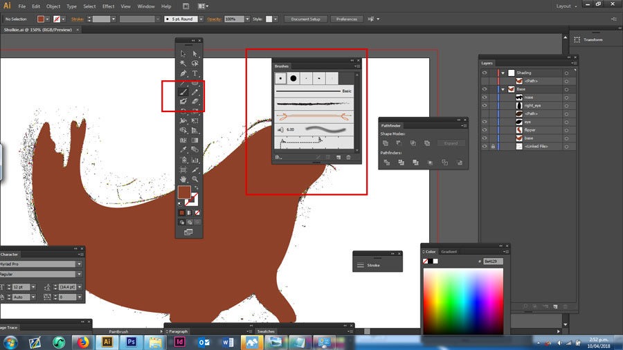 Creating a paintbrush in Adobe Illustrator