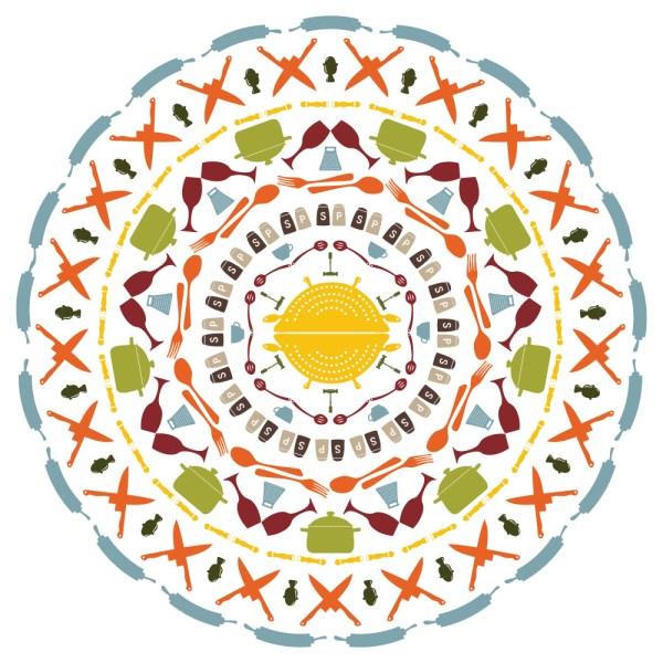 Zirkus Design | Vector Mandala | Cocinitas Dingbats Font Mandala | Vintage Color | | Mandala Designer