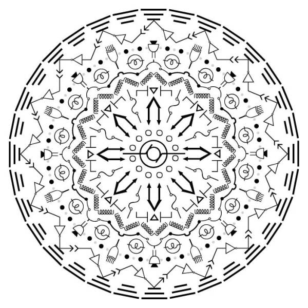 Zirkus Design | Vector Mandala | Electrical Engineering | Mandala Designer