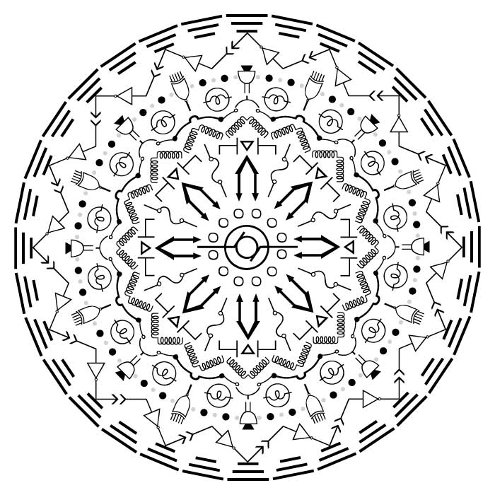 Zirkus Design | Vector Mandala | Electrical Engineering | Mandala Designer