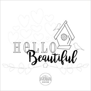 Zirkus Design   Free Printable Hello Beautiful Card to Color and Mail