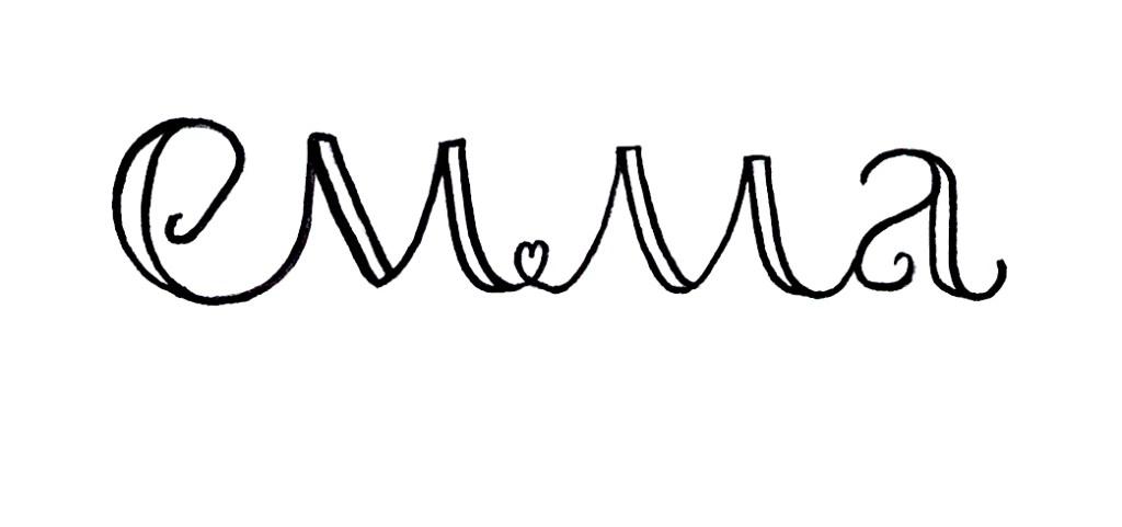 Zirkus Design | Emma Woodhouse Hand Lettered Logo Scan - Emma 4