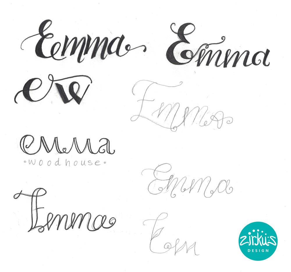 Zirkus Design | Emma Woodhouse Hand Lettered Logo Scan