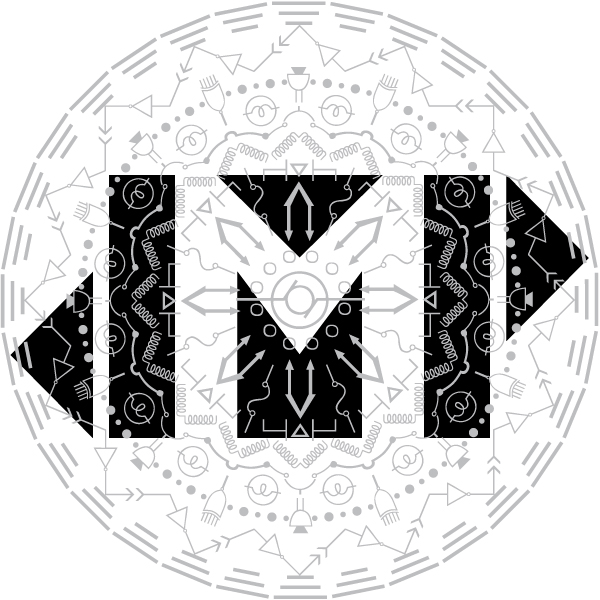 Zirkus Design | Logo Vector Art | JMP Initials Name Logo with Electrical Engineering Mandala