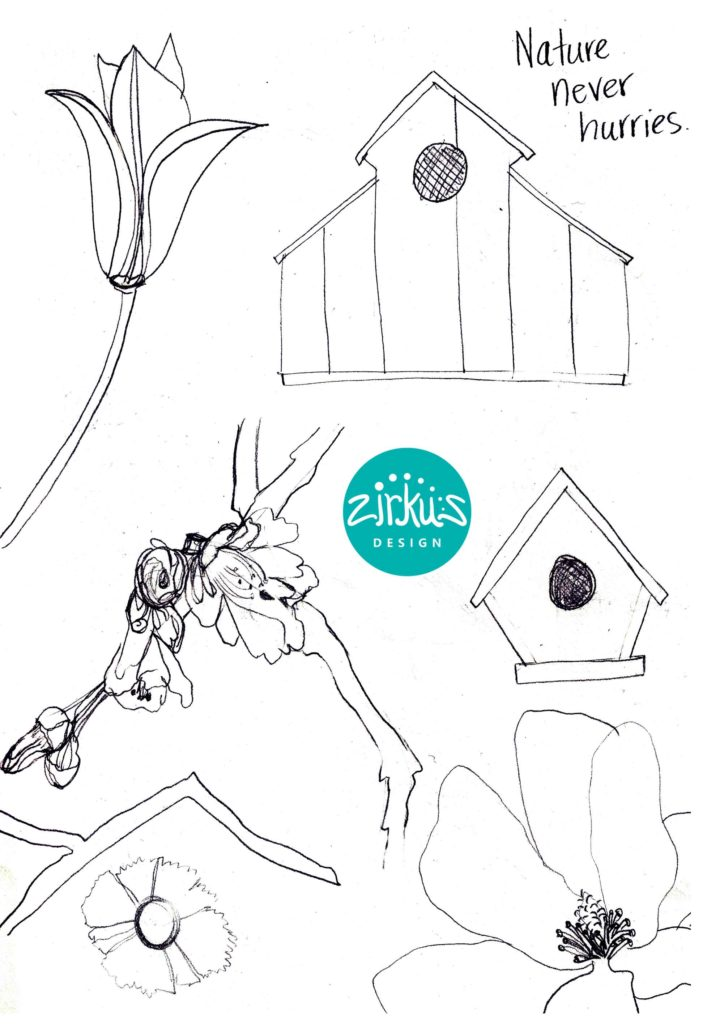 Zirkus Design | Emma Woodhouse Surface Pattern Design Collection Sketches 1