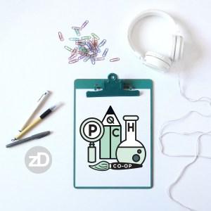 Zirkus Design   Homeschool Co-op Logo Design Retro Color Mockup