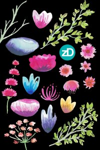 Zirkus Design   Hand Painted Elegant Watercolor Mother's Day Greeting Card // Watercolor Motifs after scanning
