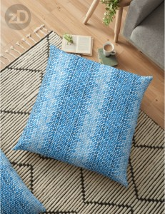 Zirkus Design | Indigo Vibes Summer Watercolor Surface Pattern Design Collection : Indigo Blue Cheerio Floor Pillow Mockup