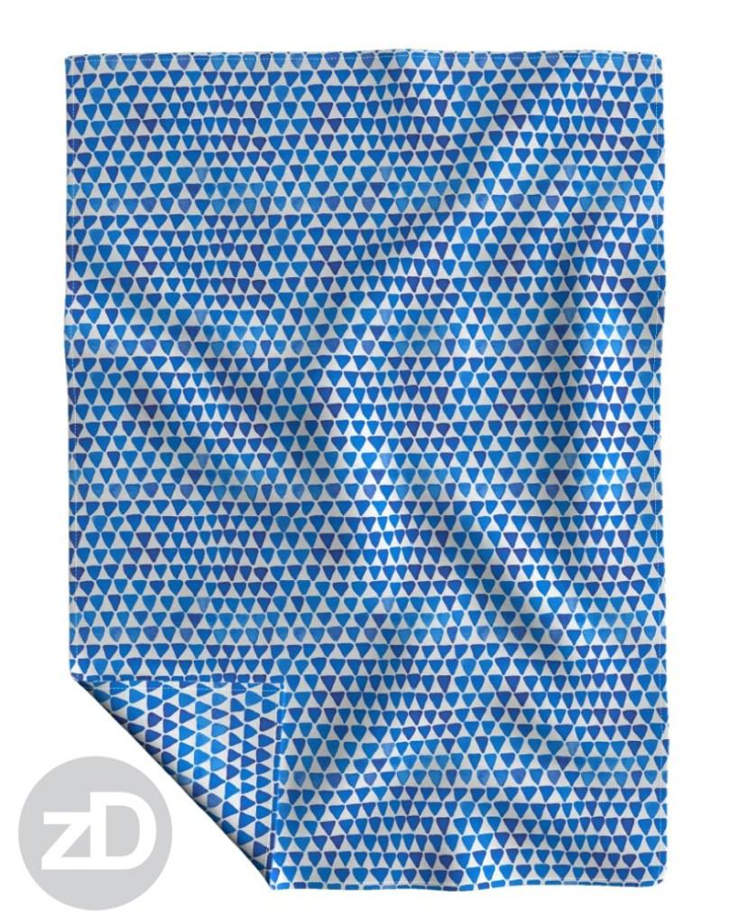 Zirkus Design | Indigo Vibes Summer Watercolor Surface Pattern Design Collection : Indigo Blue Upside Down Triangle Roostery Blanket Mockup