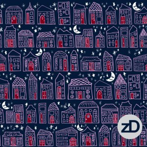 Zirkus Design | Starry Night in the City: Spoonflower Challenge Winner and New Pattern - Available NOW on Spoonflower!