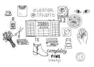 Zirkus Design | FREE Novel Art Print : Eleanor Oliphant is Completely Fine Sketch