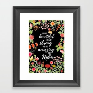 Zirkus Design | Hand Painted Watercolor Mother's Day Greeting Card (empowering message art print mockup)
