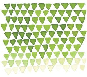 Zirkus Design | Indigo Vibes Summer Watercolor Surface Pattern Design Collection : Indigo Upside Down Triangles - Mountains, Feminine