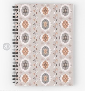 Zirkus Design | Boho Baby // Middle Eastern Metallic Pattern Collection Inspired by Turkish Kilim: Hero Print (notebook available through Society6)