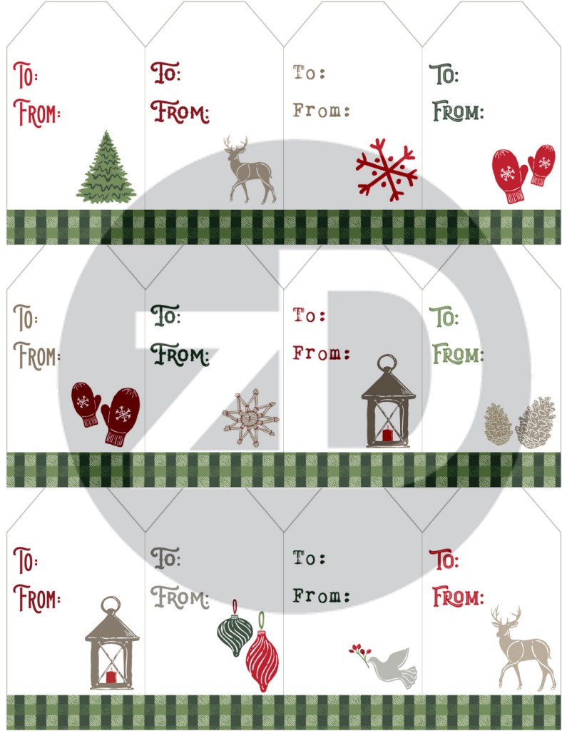 Zirkus Design   Warmest Wishes Farmhouse Christmas FREE Printable Gift Tags - Front Preview