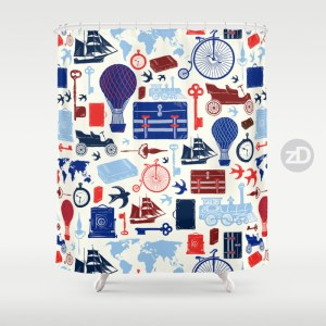 Zirkus Design | All Aboard to Explore Our Marvelous World - Shower Curtain
