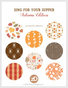 Zirkus Design | Sing for Your Supper: Autumn Edition // Surface Pattern Design Collection - Saturated Brights