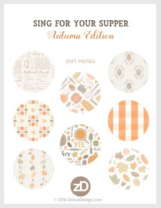 Zirkus Design | Sing for Your Supper: Autumn Edition // Surface Pattern Design Collection - Soft Pastels