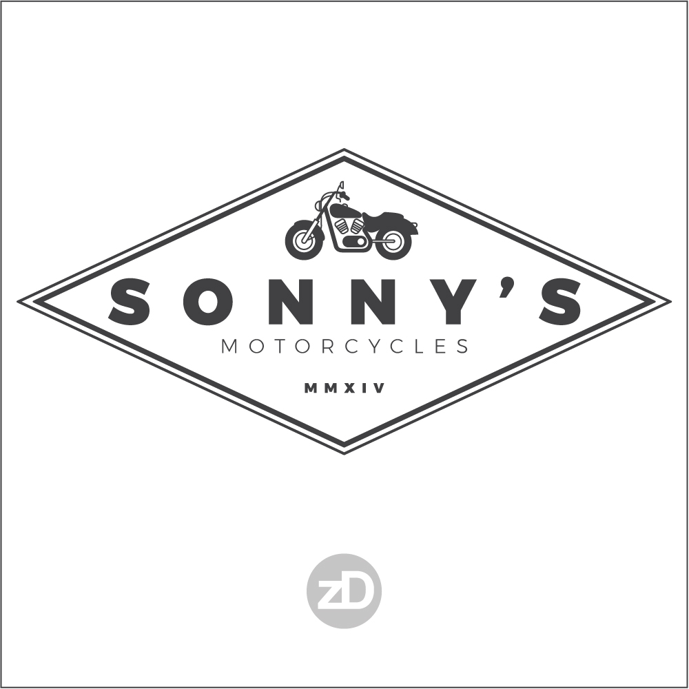 Zirkus Design | Logo Design for Veteran - Owned Businesses - Sonny's Motorcycles : Diamond Concept