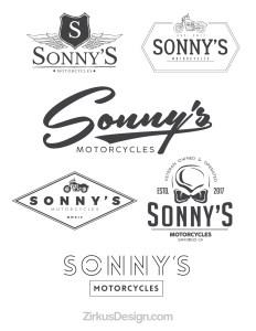 Zirkus Design | Logo Design for Veteran - Owned Businesses - Sonny's Motorcycles : All Six Logo Concepts