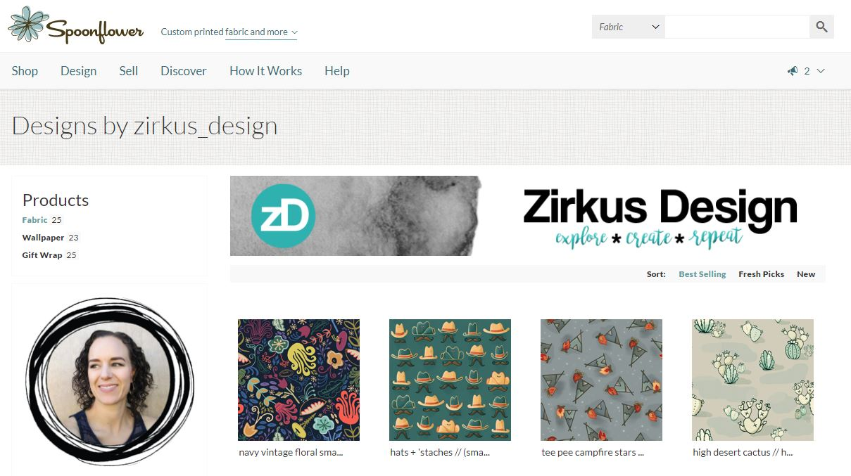 Zirkus Design | Spoonflower Shop: Buy Custom Fabric Designed by Chamisa @ZirkusDesign