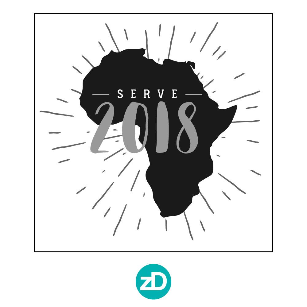 Zirkus Design | Stick 'Em Up: Sticker Design for a Good Cause - Africa Sticker Rough Option 3 - Serve 2018