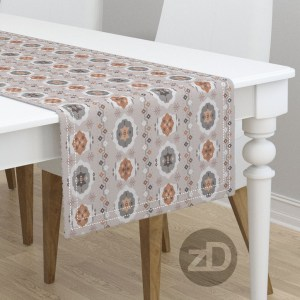 Zirkus Design   Boho Baby // Middle Eastern Metallic Pattern Collection Inspired by Turkish Kilim: Hero Print (Table Runner Available Through Roostery)