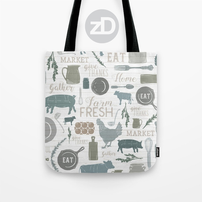 Zirkus Design | Sing for Your Supper: A Modern Farmhouse Pattern Design - Tote Bag Mockup