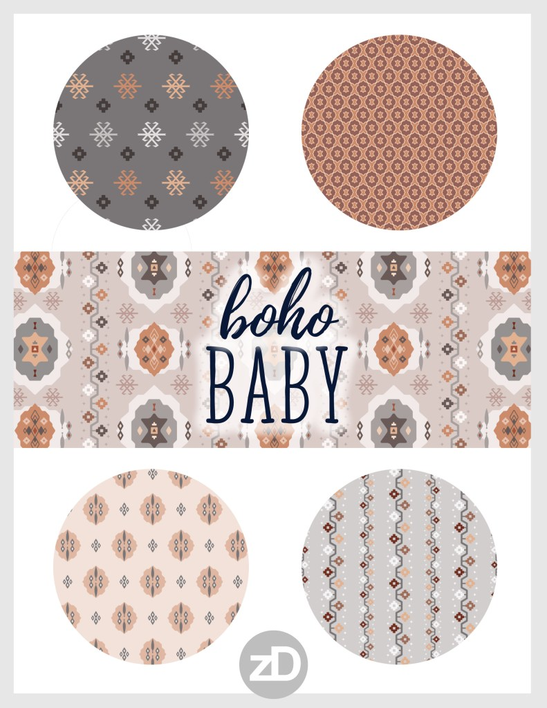 Baby Boho // Middle Eastern Metallic Turkish Kilim Pattern Collection