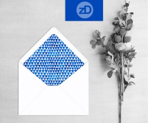 Zirkus Design | Indigo Vibes Watercolor Pattern Design Collection - Indigo Triangles Stationery Mockup