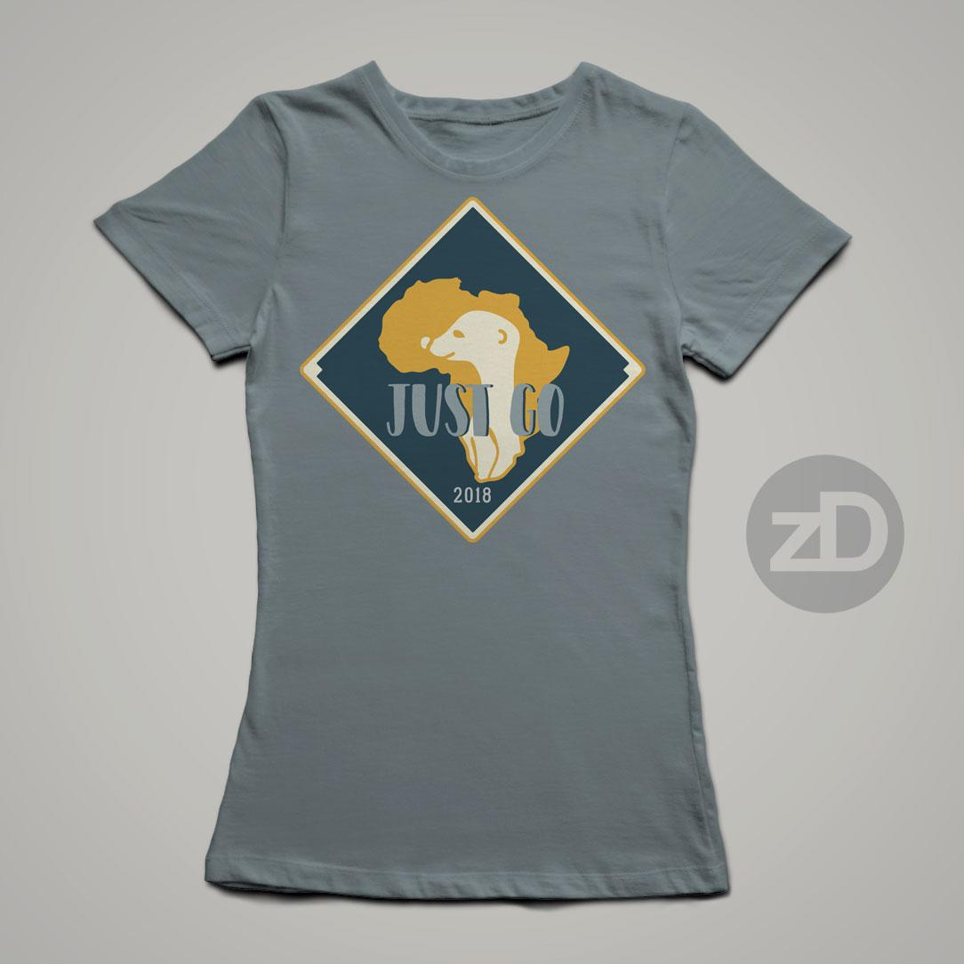 Zirkus Design | Stick 'Em Up: Sticker Design for a Good Cause - Africa Missions Trip Meerkat Stickers - Final Sticker Design T-Shirt Mockup