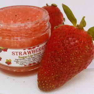 Edible Strawberry Sugar Lip Scrub
