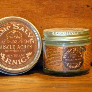 Hemp Arnica Salve in Tin and Jar